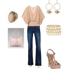 Pink and Denim - I think I would prefer the same but in Cream instead of Pink.