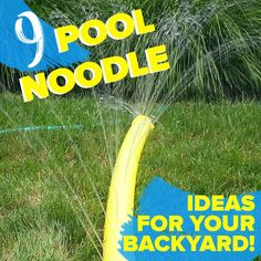 9 Pool Noodle Ideas For Your Backyard is part of Summer hacks - Turn your backyard into a summer fun zone with these clever pool noodle ideas! Fun Crafts, Diy And Crafts, Crafts For Kids, Kids Diy, Decor Crafts, Pool Noodles, Pool Noodle Games, Simple Life Hacks, Hacks Diy