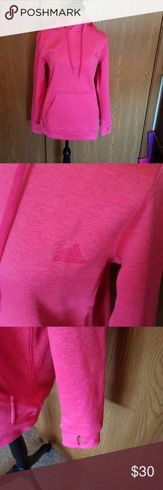 Hot pink medium Adidas hoodie. Perfect condition Hot pink medium Adidas hoodie. Perfect condition adidas Tops Sweatshirts & Hoodies