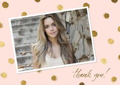 Gold Dots - Thank You Card #greetingcards #printable #diy #thankyou #notes #thanks Thank You Notes, Thank You Cards, Printable Cards, Printables, Thank You Card Template, Gold Dots, Your Cards, Create Yourself, Greeting Cards