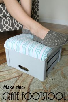 Make a crate footstool with these easy step by step instructions.