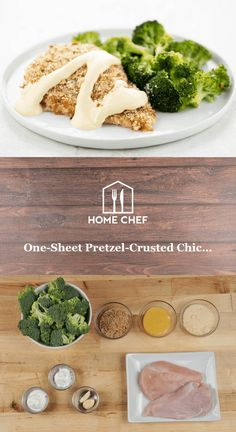 Pretzel Crusted Chicken, Parmesan Crusted Chicken, Breaded Chicken, Honey Mustard Pretzels, Honey Mustard Sauce, Chicken Home, Home Chef, Chef Recipes, Drink Recipes