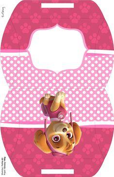 Skye of Paw Patrol: Free Printable Boxes. Sky Paw Patrol, Paw Patrol Party, Paw Patrol Birthday Girl, Baby Girl Birthday, Printable Box, Free Printables, Cumple Paw Patrol, Prima Paper Dolls, Puppy Party