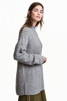 Camisola em malha de torcidos   H&M