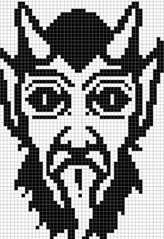 This is a PDF is a cross stitch pattern of Krampus! Celebrate the holidays with this pattern :) Measurements: -Pattern: 67 stitches wide x 92 stitches high -14ct: 4 3/4 inches wide x 6 5/8 inches high -16ct: 4 1/4 inches wide x 5 3/4 inches high Contact me with any questions.