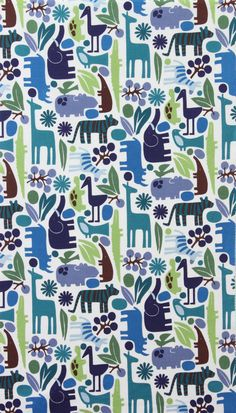 Found my perfect modern jungle print with the color pallate I was looking for! Yes!