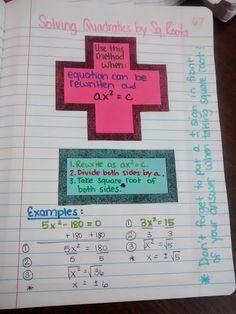 Algebra 2 Unit 3 was all about solving quadratic equations. Originally, I had planned to make it about solving quadratics, polynomials, exp. Math Teacher, Math Classroom, Teaching Math, Teaching Ideas, Maths Algebra, Math Math, Calculus, Math Notes, Math Courses