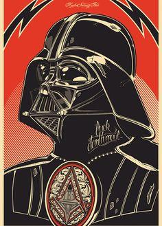 Illustration Dark Vador by Joshua M. Retro Poster, Vintage Posters, Vader Star Wars, Star Wars Art, Brass Tacks, Culture Pop, Poster Series, Star Wars Poster, Darth Vader Poster