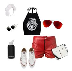 """""""#ContestOnTheGo #ContestEntry"""" by krismonet ❤ liked on Polyvore featuring bkr, Magda Butrym, Converse, Lulu Guinness, Bling Jewelry, contestentry and ContestOnTheGo"""