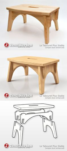 The simple stool with enhanced stability. - The simple stool with enhanced stability. - The simple stool with enhanced stability. - The simple stool with enhanced stability. Woodworking Projects Diy, Woodworking Furniture, Plywood Furniture, Furniture Plans, Diy Furniture, Woodworking Plans, Furniture Design, Bedroom Furniture, Furniture Websites