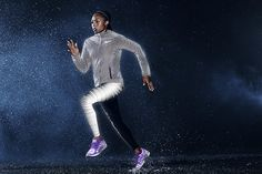 Nike isn't new to the nighttime-running game and is already known for its luxe, extremely reflective apparel and sneakers. Here's a sneak peek at its new collection, which will hit retail stores in a few weeks.Nike Flash Tights ($150); Nike Flash Jacket ($350); Nike Zoom Structure 18 Flash ($135).