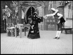 The Wizard, the Prince, and the Good Fairy (1900) - Georges Melies | Unique in this film is the framing by Méliès of the slightly angled shot for the set, which allows for a larger-than-normal area of action.