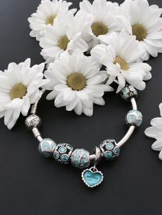 Buy Hot sell DIY Silver Charm Bracelet Murano Glass Beads at Wish - Shopping Made Fun Pandora Bracelet Charms, Pandora Rings, Silver Charm Bracelet, Pandora Jewelry, Charm Jewelry, Beaded Jewelry, Pandora Pandora, Handmade Jewelry, Jewellery