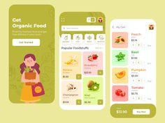 Fresh Market Shopping App by Yelyzaveta Baranenko App Ui Design, Mobile App Design, Design Design, Dashboard Design, Flat Design, Graphic Design, Motion Design, Design Thinking, App Design Inspiration