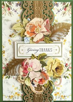 Anna Griffin Inc ( Mason Jar Crafts, Mason Jar Diy, Paper Plants, Anna Griffin Cards, Card Sentiments, Giant Paper Flowers, Beautiful Handmade Cards, Fall Cards, Christmas Cards