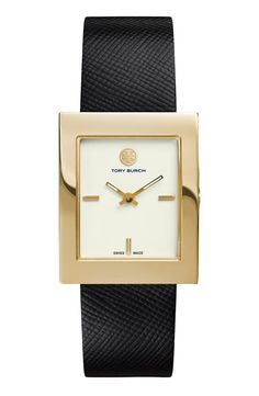 Torch Burch Leather Strap Watch