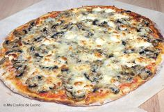 pizza de champiñones y queso