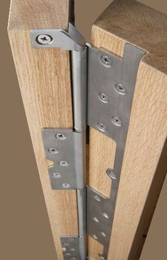 Cook Brothers Phoenix Interleaf Hinges - heavy duty continuous hinges - reduce gap from 12mm to 3mm