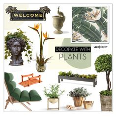 """""""Grow a Little: Planters"""" by theseapearl ❤ liked on Polyvore featuring interior, interiors, interior design, home, home decor, interior decorating, Selamat, Uttermost, Frontgate and Improvements"""