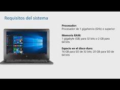 Capitulo 1 - Parte 2: Especificaciones y requisitos del sistema de Windows 10 - YouTube