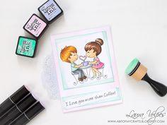 A bit of my crafts: Coffee Lovers Summer Blog Hop Card feat Craftin Desert Divas Coffee Date Digital Stamp