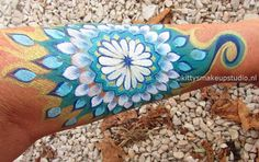 Mandala arm paint