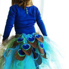 Peacock tutu costume!