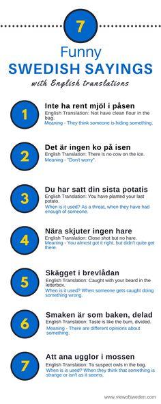 Swedish Sayings with English translations. www.viewofsweden.com