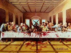 The last supper Baphomet