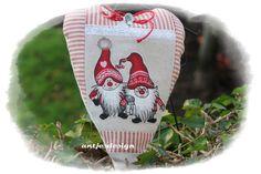 Geschenkverpackungen - Weihnachtswichtel-Paar Herz - Landhaus - Versteck - ein Designerstück von antjesdesign bei DaWanda