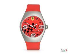 Zegarek Ferrari Pitstop Watch Steel Case - dial Red   FERRARI WATCH   Fbutik   Scuderia Ferrari Collection