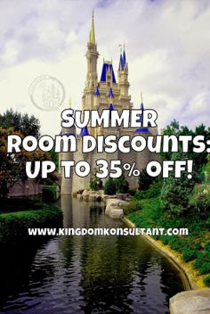 Summer Room Discount just released for Walt Disney World! Contact vacations@kingdomkonsultant.com for more details.