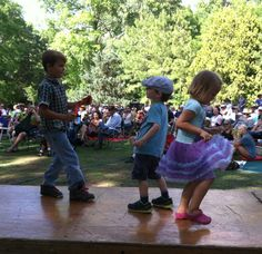 Dancing to the music of Brave Combo.       Photo by CS Lent  June 8,2014