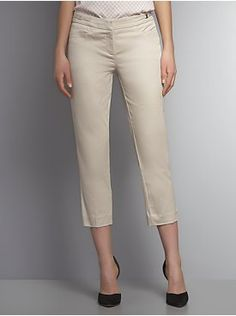 The 7th Avenue Gabardine Straight Leg Crop Pant