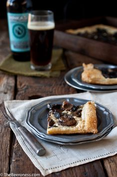 Beer Caramelized Mushrom Gorgonzola Tart | The Beeroness