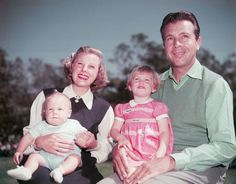 June Allyson and husband Dick Powell with children Ricky and Pamela - 1951