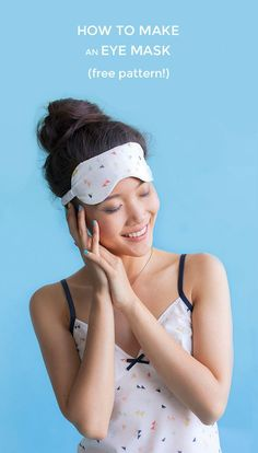 How to Make an Eye Mask - free pattern from Tilly and the Buttons