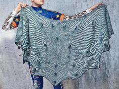 Ravelry: Suriously Holey pattern by Stephen West Lace Knitting, Knit Crochet, Finger Weights, Knitted Shawls, Knitting Patterns, Knitting Projects, Knitwear, Bell Sleeve Top, Ruffle Blouse