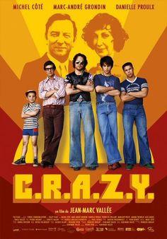 """MP553. """"C.R.A.Z.Y."""" Movie poster by Karine Savard (Jean-Marc Vallée 2005) / #Movieposter"""