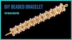 How to make beaded bracelet, Jewelry making Tutorial