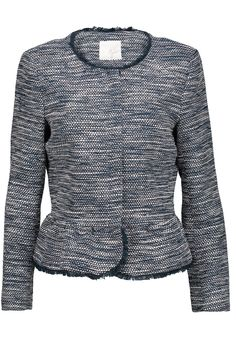 Shop on-sale Joie Milligan frayed cotton-blend bouclé peplum jacket. Browse other discount designer Jackets & more on The Most Fashionable Fashion Outlet, THE OUTNET.COM