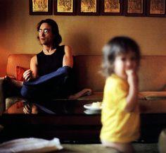 John Lennon and Sean Lennon (in the family room)