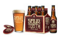 Sour Tooth Brewing Co: Branding / Packaging by Paul Granese, via Behance