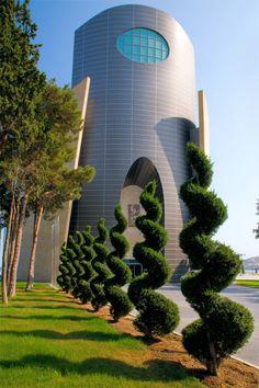 Beautiful buildings all over Baku city