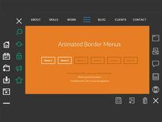 css3 animated border menu adından da anlaşılacağı üzere css3 ile yapılmış ve ilgili bağlantıya tıklanıldığında...