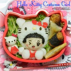 Karenwee's Bento Diary: Bento2014#Jun18~Hello Kitty Costume Girl