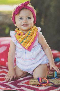 A three-pack of reversible bandanna bibs is six times the cuteness in a single tiny bundle. #etsykids