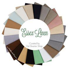 Essex Linen Fat Quarter Bundle<BR>Curated by Fat Quarter Shop