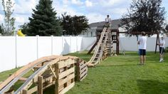 Superbe Teen Boys Build 50 Foot Long Backyard Roller Coaster For $50