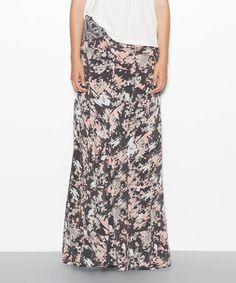 Take a look at this Identity Charcoal Zanna Silk Crepe Maxi Skirt by Winter Kate on #zulily today!